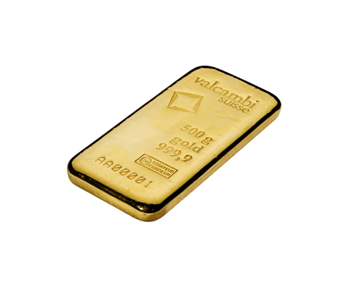 500g Gold Bar   Valcambi