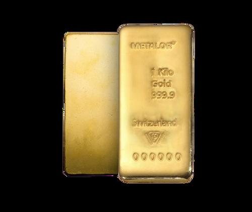 Metalor 1kg Gold Bullion Bar