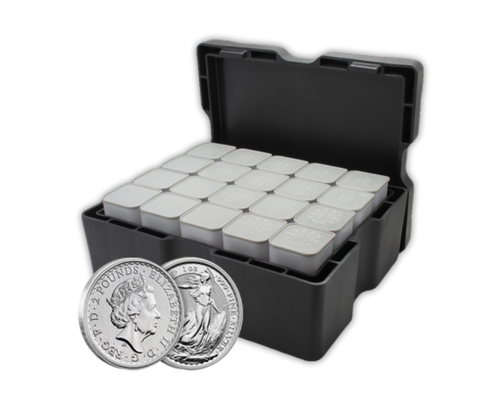 Silver 1oz Britannias (box of 500)