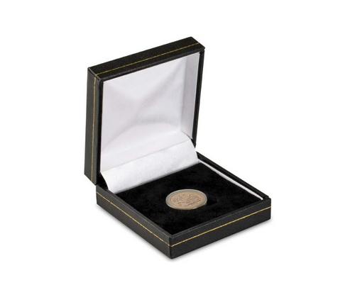 Black Leatherette Full Sovereign Coin Box