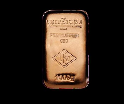 1 Kilo Leipzig Copper Bullion Bar
