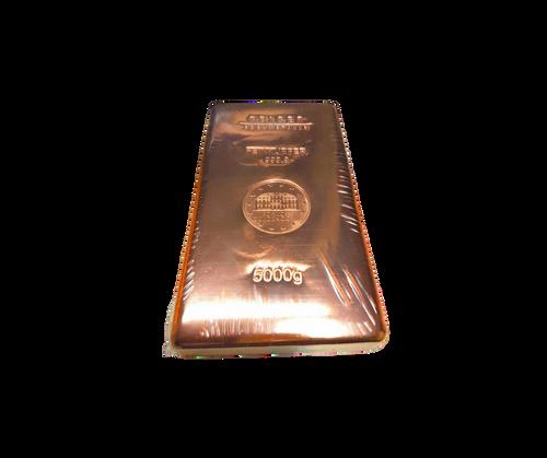 5 Kilo Geiger Edemetalle Copper Bullion Bar