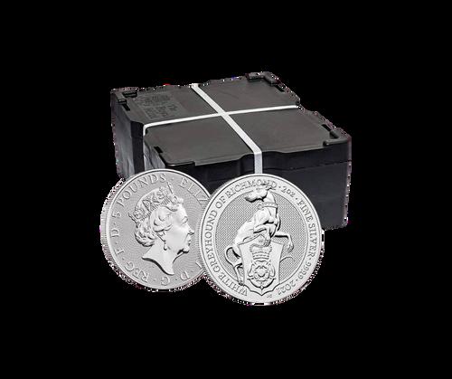2oz Silver Queen's Beast White Greyhound of Richmond (Box of 500)
