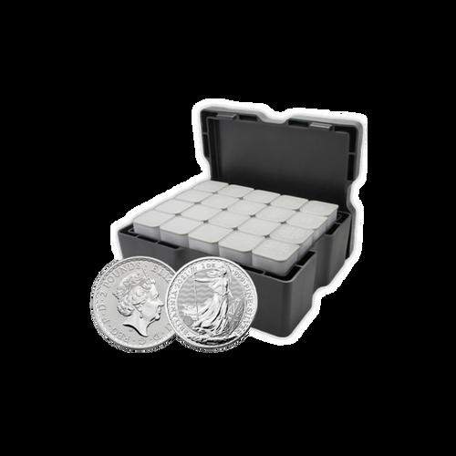 Silver 1oz Britannias - 2021 (Box of 500)