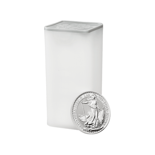 1oz Britannia Silver Coin (2020) - Tube of 25