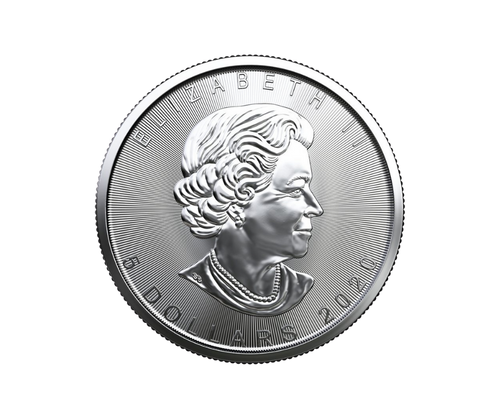 1oz Silver Maple Leaf Coin (2020) - Tube of 25