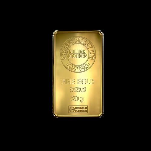 20g Gold Bar   Sharps Pixley