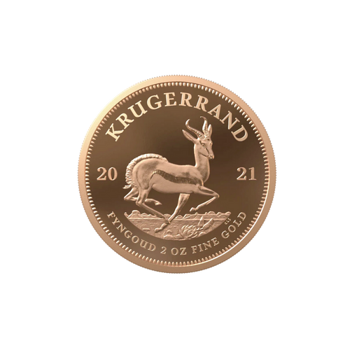 2oz South African Gold Krugerrand 2021 - Proof Coin with Box