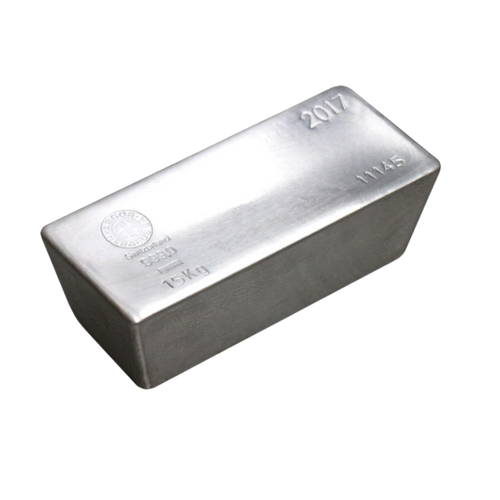 Hereaus 15 Kilogram Silver Bullion Bar