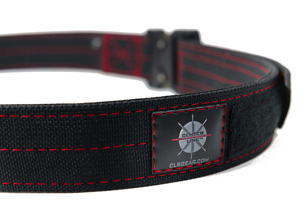 Quality craftsmanship - Black Mil-Spec webbing with Red thread and Austri-Alpin Cobra Buckle