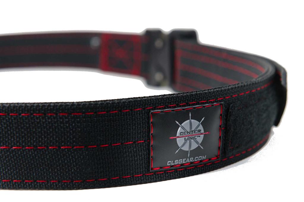 Quality craftsmanship - Black Mil-Spec webbing with Red thread and Austri-Alpin Cobra Buckle