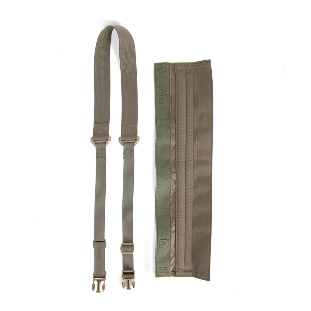 PSW open alongside shoulder strap