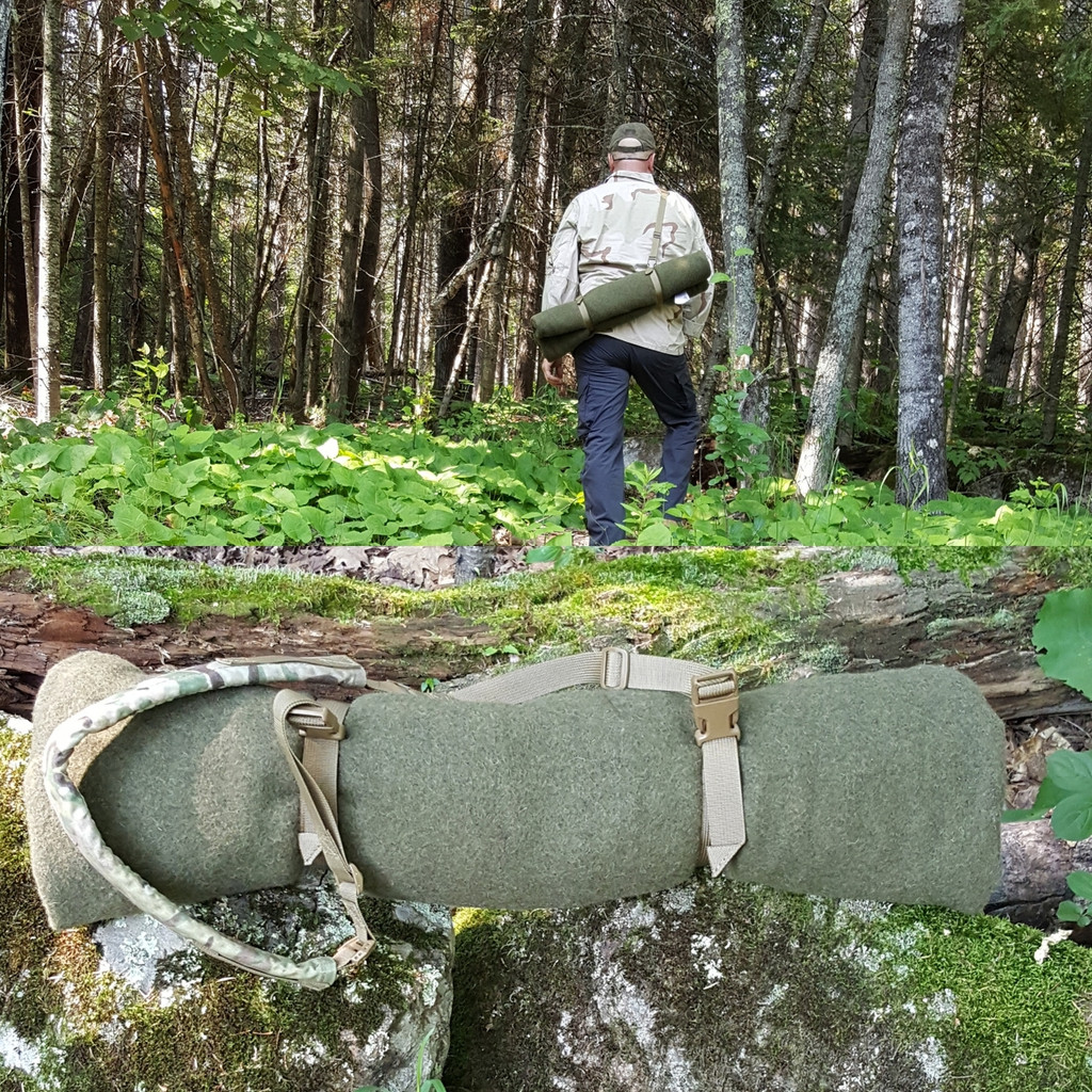 Combine a Strap Kit and Shoulder Strap to carry gear