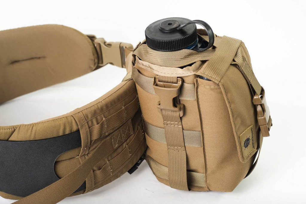 Use the MOLLE strap and attach to a waist pad