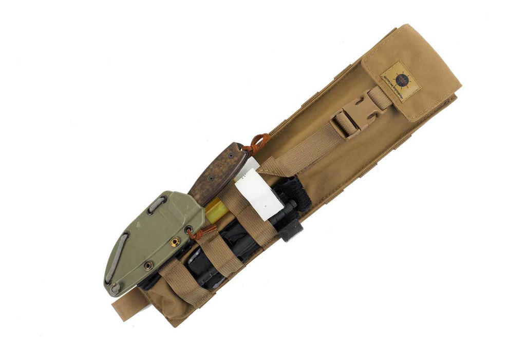 Attach additional items to the front MOLLE webbing