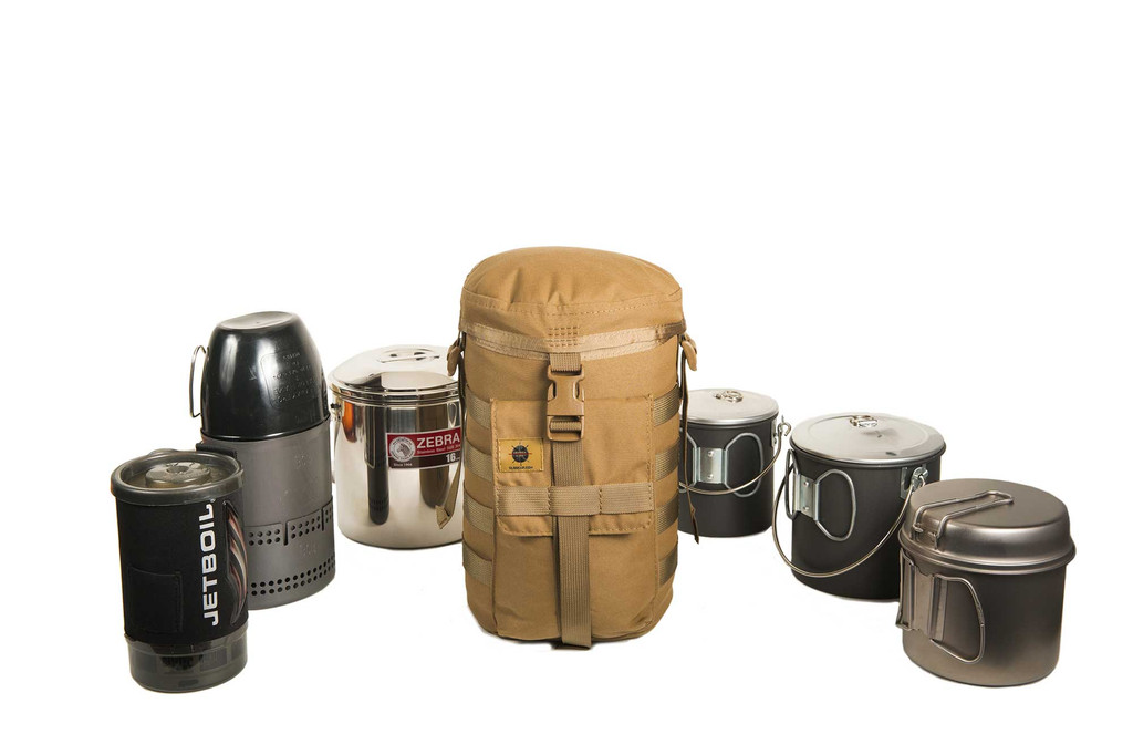 CFSE with various cooking pots and gear