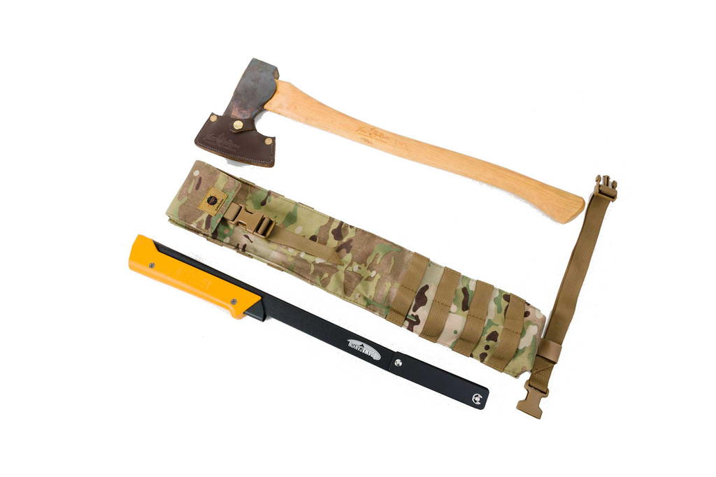Carry a folding saw and camp axe
