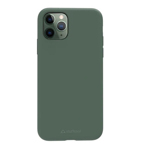 Stuffcool Silo Soft & Smooth Slimmest Back Case for Apple iPhone 11 Pro max (Green)