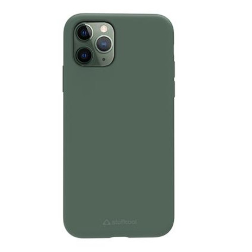Stuffcool Silo Soft & Smooth Slimmest Back Case for Apple iPhone 11 Pro (Green)
