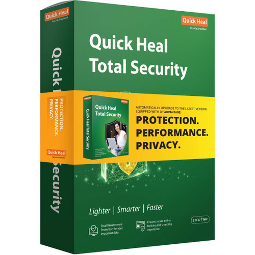 Quick Heal Total Security Latest Version - 2 PC, 1 Year