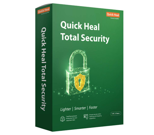 Quick Heal Total Security Latest Version - 1 PC, 3 Year