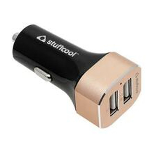 Stuffcool Boulet 3.4 Amp Dual USB Fast Car Charger for Smartphone, iPhone, Tablet & iPad