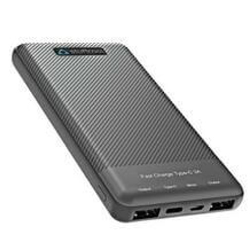 Stuffcool Type-C 3A Fast Charge 10000mAh Li Polymer Power Bank for Smartphones - Textured Housing