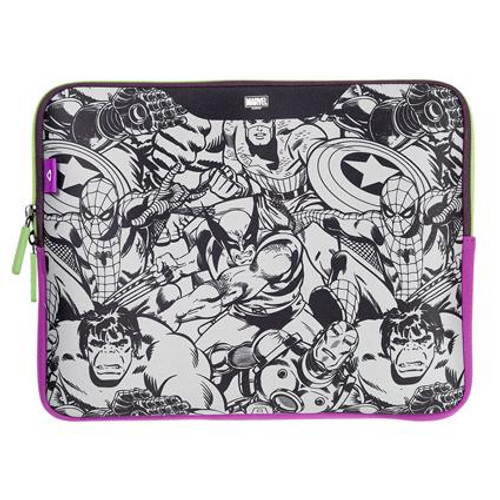 Stuffcool MARVEL Soft Laptop Sleeve for upto 13.3 Inch Macbook Air / 13.3 Inch Laptop - O?cial MARVEL ? Licensed Product for India (COMIC 1)