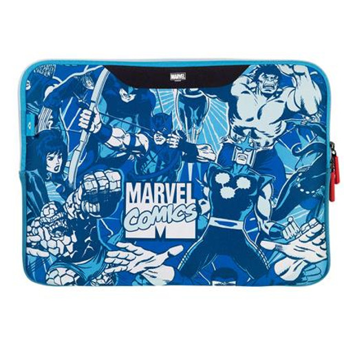 Stuffcool MARVEL Soft Laptop Sleeve for upto 15.4 Inch Macbook Pro / 14 Inch Laptop - O?cial MARVEL ? Licensed Product for India (COMIC 2)