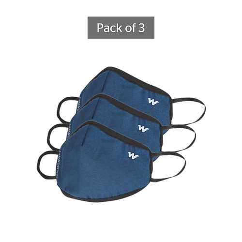 SUPERMASK W95 Plus Reusable Outdoor Respirator - GRINDLE BLUE - Pack of 3