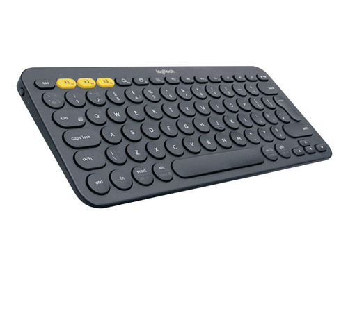 Logitech K380 Wireless Multi-Device Bluetooth Keyboard for Windows, Apple iOS, Apple TV, Android or Chrome, for PC/Mac/Laptop/Smartphone/Tablet(Dark Grey)