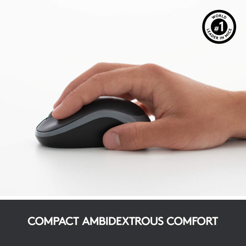 Logitech MK270r Wireless Keyboard and Mouse Combo for Windows, 2.4 GHz Wireless, Compact Wireless Mouse, 8 Multimedia & Shortcut Keys, 2-Year Battery Life, PC/Laptop- Black