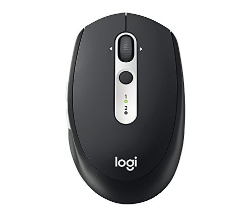 Logitech M585 Multi-Device Wireless Mouse ? Control and Move Text/Images/Files Between 2 Windows and Apple Mac Computers and Laptops with Bluetooth or USB, 2 Year Battery Life, Graphite