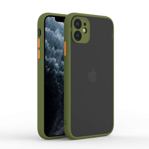 Apple I-Phone 11 Slim Fit Anti-Dust Hard Case Compatible with Matte Green