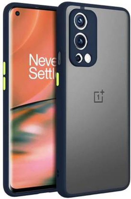 OnePlus Nord 2   Smoked Matte Back   Protective Hard Case (Black Bumper)