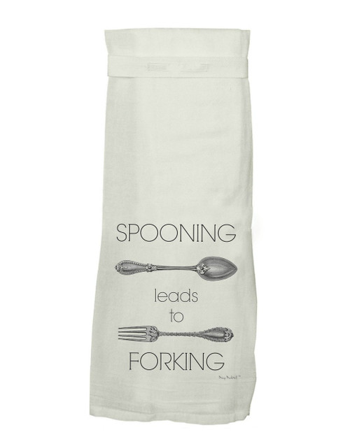 Twisted Wares Spooning Leads to Forking Hang Tight Towel