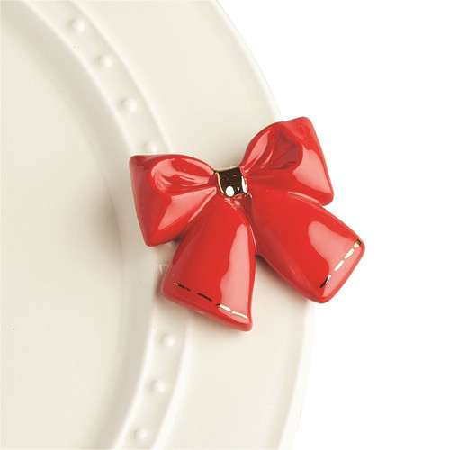 Nora Fleming Wrap It Up Red Bow Mini A238