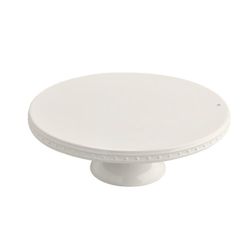 this lovely pedestal will display any number of baked goodies! add some height to your tablescape and embellish with your favorite mini! 12″ d x 4 1/2″ h