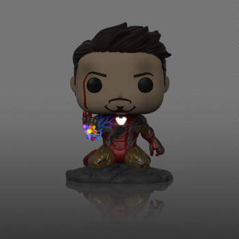 POP Avengers Endgame I Am Iron Man PX Glow-In-The-Dark Exclusive