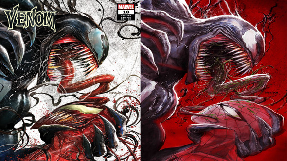 Venom 18 Comic Spot exclusive Tyler Kirkham cover A & B Set