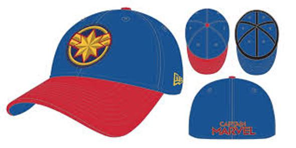 New Era Captain Marvel Comic Hat