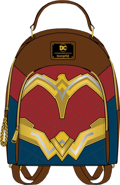 Loungefly Wonder Woman Faux Leather Mini Backpack