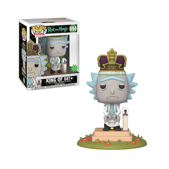 Funko POP Animation: Rick & Morty - King of $#!+