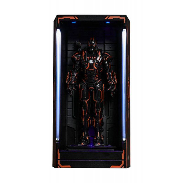 Neon Tech War Machine MMS Compact Series Hot Toys Hall of Armor (Iron Man 2)