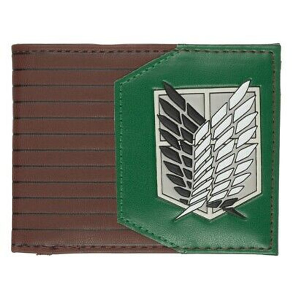 Attack on Titan Green Bi-Fold Wallet