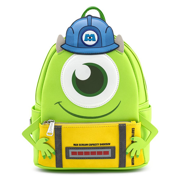 Loungefly Pixar Monsters Mike w/Scare Can Cosplay Mini Backpack