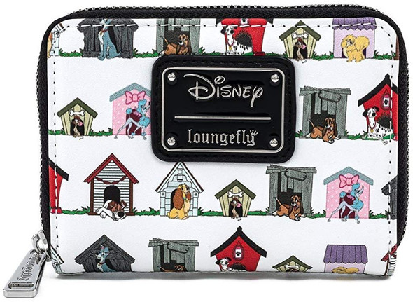 Loungefly Disney Dog Houses AOP Zip Around Wallet