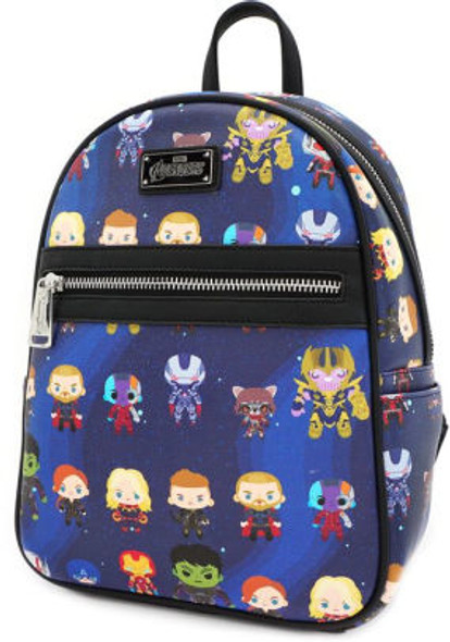 Loungefly Marvel The Avengers Chibi All Over Print Mini Backpack