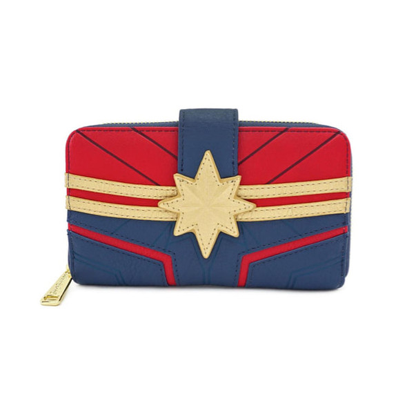 Loungefly Captain Marvel All Around Zip Wallet