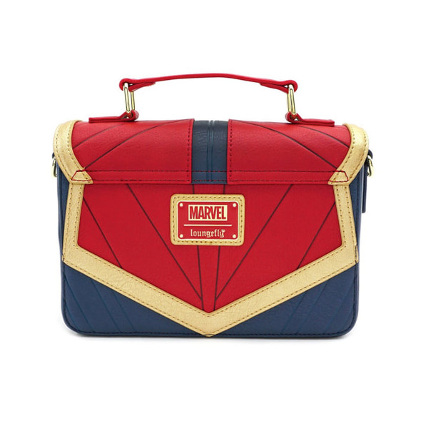 Loungefly Captain Marvel Faux Leather Crossbody Bag